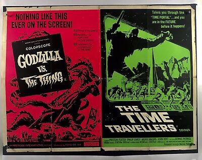 GODZILLA VS THING & TIME TRAVELERS Movie Poster (Fair) UK Quad 1964 Sci-Fi 69F