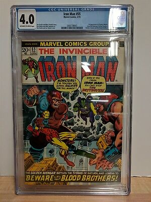 IRON MAN #55 CGC 4.0 - 1st Appearance of Thanos & Drax Off White to White Pages