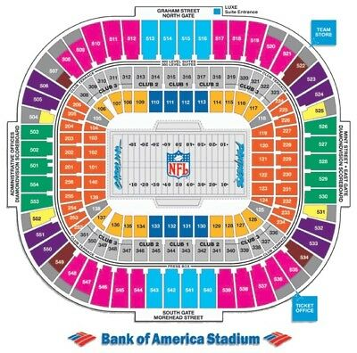 2 Tickets Carolina Panthers vs. Atlanta Falcons Tickets in front of Sect 508