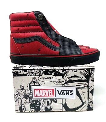 d533c04e684b Vans x Marvel SK8-Hi Deadpool Black Red Shoes VN0A38GEUBJ Men s Size 7.5