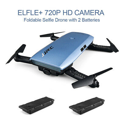 WiFi FPV 720P HD Camera Drone sensor Control APP Foldable RC Drone 2 Batteries