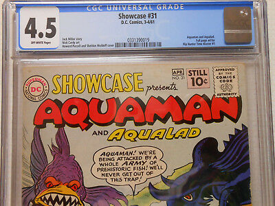 DC Showcase 31 Second Aquaman Silver Age Tryout Comic Book CGC VG+ 4.5 OW pages