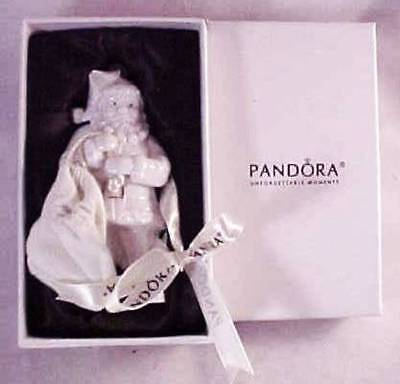 2013 Pandora Unforgettable Moments Christmas Santa Ornament & Original Box P1966