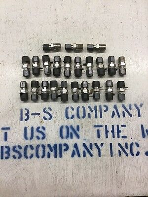 """Parker CPI Male Connector 3-4 FBZ-SS, 3/16"""" Tube X 1/4"""" Male NPT Tube Fitting"""