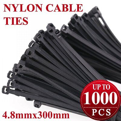 12 Inch Cable Ties - UV Weather Resistant - 75 LBS Nylon Wrap Zip Ties 3.8*300mm
