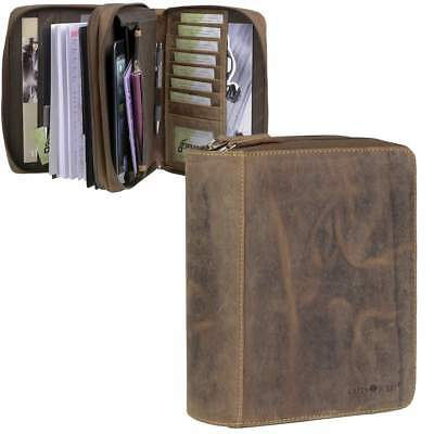 Greenburry Personal Organizer A5 Leather 2019 Organiser Brown in Bundle with