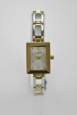 Nine & Co Watch Womens Water Resistant Silver Gold Stainless Steel White Quartz