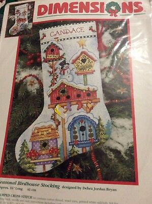 "DIMENSIONS ""HOLIDAY TEDDIES TOYS"" Christmas Stocking Stamped Cross · Stamped Cross Stitch Kits Christmas"