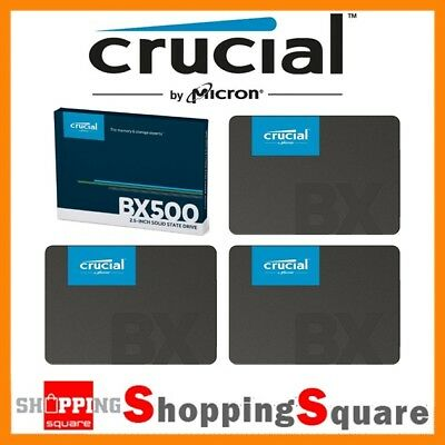 "Crucial BX500 120GB 240GB 480G SATA 2.5"" SSD Solid State Drive 540MB/s Laptop PC"