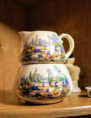 Creamers & Sugar Bowls Vintage Porcelain Lancaster Englishware Cream Pitcher Sandland The Jolly Drover Easy To Repair