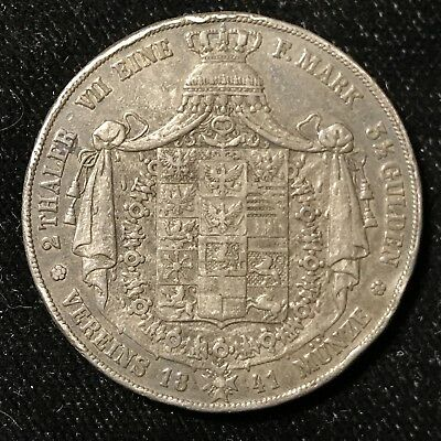 1841 A 2 THALER - GERMANY - GERMAN STATES - PRUSSIA - SILVER - Lot#A891