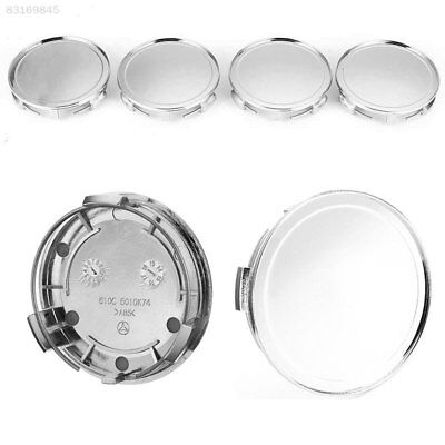 "90A6 4Pcs Chrome 75mm 3"" Wheel Emblem Hub Center Caps For Mercedes Benz C E S ML"