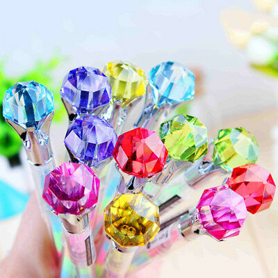 2pcs Diamond Color Gel Pen Kawaii School Stationery Office Writing Supplies New