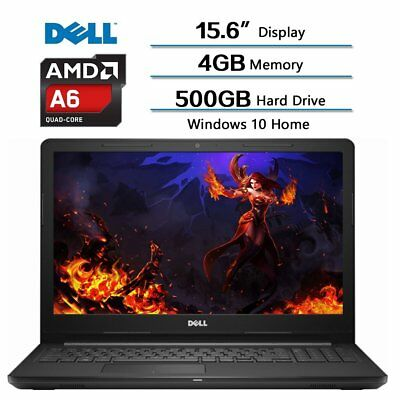"""Dell Inspiron 15.6"""" Widescreen Laptop AMD A6-9200 / 4GB/ 500GB HDD/ Win10 Webcam"""