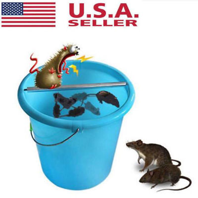 Mice Log Rolling Trap Bucket Roller Mouse Rats Pest Stick Rodent Spin Trap US