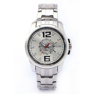 Mens Analogue Stainless Steel Sport Casual Quartz Watch Gift Box