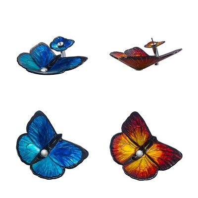 Butterfly Bathroom Sink Set Contemporary Tempered Glass Matching Style Faucet