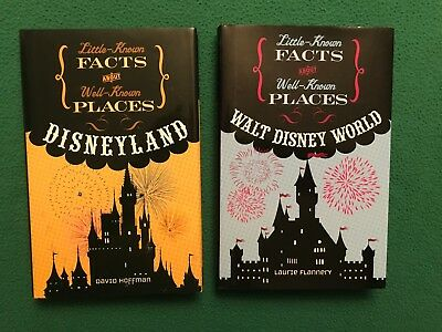 Little Know Facts About Disneyland + Walt Disney World, Lot of 2 Hardcover Books