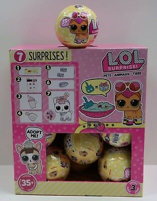 L.o.l Series 3 Lol Surprise Pets 7 Doll Layers Of Fun Animal Ball Authentic New