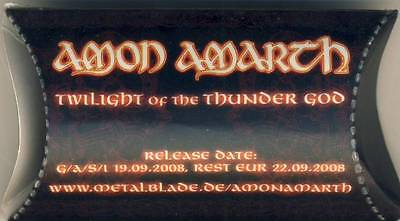 2x AMON AMARTH - Twilight of the Thunder God Gehörschutz Earplugs Sammlerstück