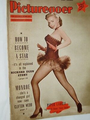 PICTUREGOER FILM MAGAZINE....11th June 1955...PIPER LAURIE   on cover