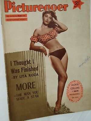 PICTUREGOER FILM MAGAZINE....28th January 1956...JACKIE COLLINS..KENNETH MORE..,