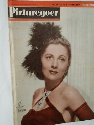 PICTUREGOER FILM MAGAZINE....18th August 1945...JOAN FONTAINE on cover