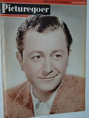 PICTUREGOER FILM MAGAZINE....13th October 1945.....ROBERT YOUNG front cover