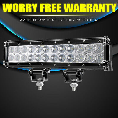 """12"""" Inch 72W LED Work Light Bar Flood Spot SUV Boat Driving Lamp Offroad 4WD"""