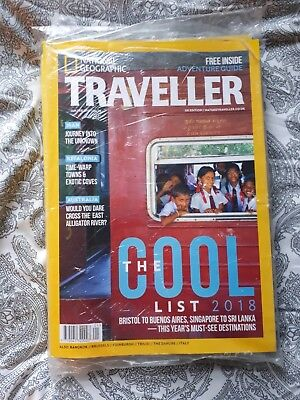 NATIONAL GEOGRAPHIC TRAVELLER MAGAZINE Jan Feb 2018. COOL LIST