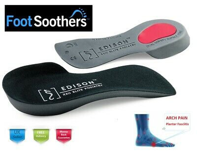 Edison Elite™ 3/4 Orthotic Insoles Arch Support Plantar Fasciitis Fallen Arches