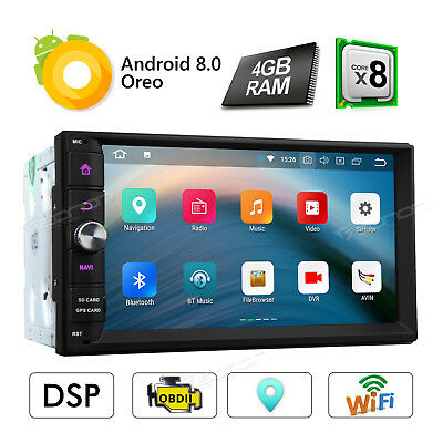 """2 Din 4+32GB 8 Core Android 8.0 7"""" Car Radio Stereo GPS BT WIFI DAB Built in DSP"""