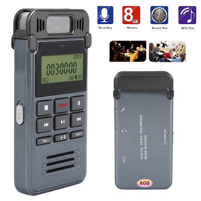 Mini 8G LCD Digital Voice Record Activated Audio Recorder Dictaphone MP3 Player