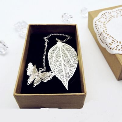 Exquisite Stationery Gift Book Holder Metal Butterfly Bookmark Maple Leaf