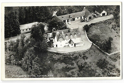Scotland Aerial View Overscaig Hotel Sutherland Real Photo Vintage PC 12.11