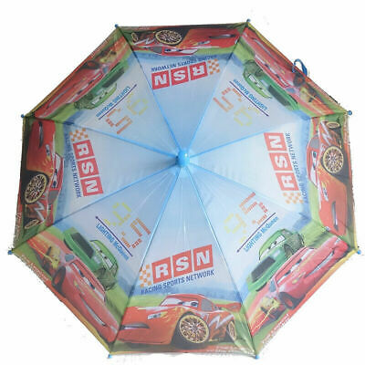 Boys Kids Cars Lighting McQueen Umbrella Sun-Shade Parasol Raincoat Gift New