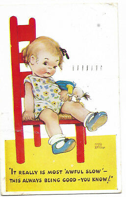 Mabel Luice Attwell 'It Really Is Most Awful Slow' Vintage Postcard 11.10