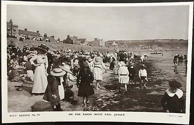 On The Sands Jersey CI - Francis Foot, Pitt Series Antique Postcard