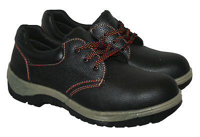 Mens Leather ,ce Marked,safety Work Shoe,steel Toe Cap, Brown Size Uk 10 /eu44