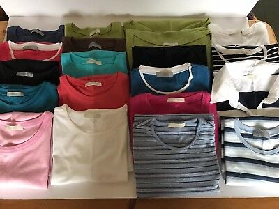 Bundle of 20 Ladies Short Sleeve Tops / T-Shirts Size 14 M&S