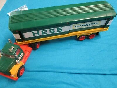 1976 Hess Truck with Barrels in Excellent condition