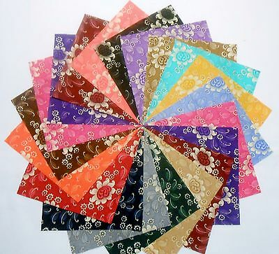 """60 5 inch Quilting Fabric Squares/Antique """"Charm"""" Georgeous/Free Ship"""