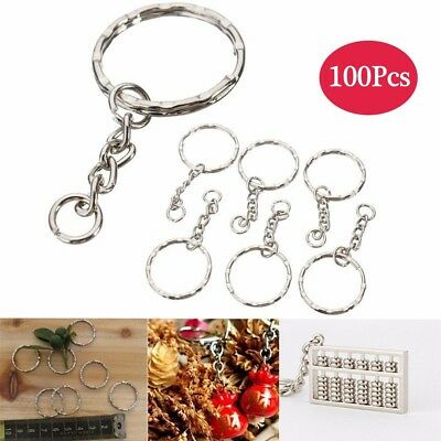 100Pcs Split Key Rings Keyring 25Mm Blanks Hoop Loop Ring Link Chain Findings