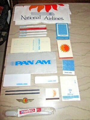 Pan American & National Airlines Vintage Lot