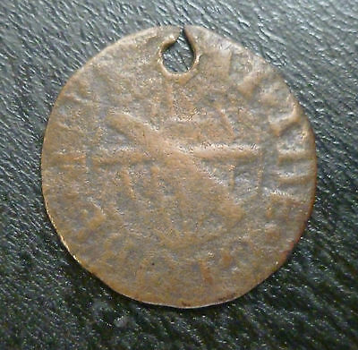Kent Chatham 17th Century Farthing Token W99 1/4d 1667 W.I. At The Globe holed