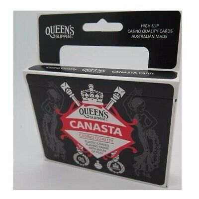 1 x DOUBLE DECK Queens NEW Canasta Casino Quality Playing Cards AU Made 54516*