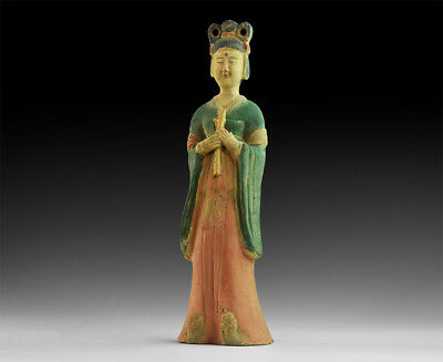 Chinese  Courtly Lady ceramic Statue