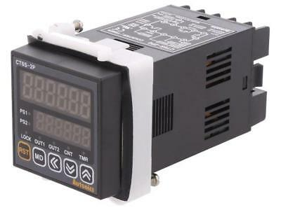 CT6S-2P2 Counter electronical 2x LED time/pulses SPST Cutout45x45mm  AUTONICS