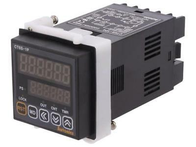 CT6S-1P4 Counter electronical 2x LED time/pulses SPDT Cutout45x45mm  AUTONICS