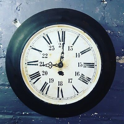 Antique French Vintage metal Wall Clock 1930's